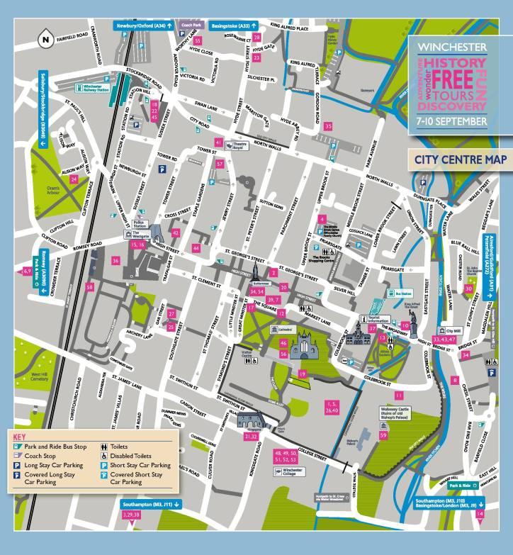 City centre map