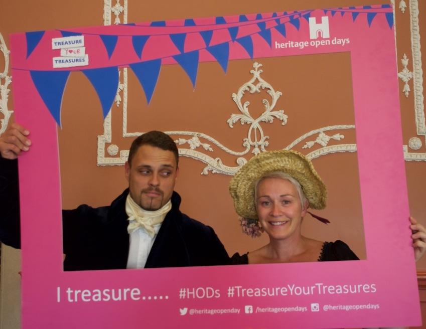Joe & Louisa in the Regency ballroom at St John's House, Winchester