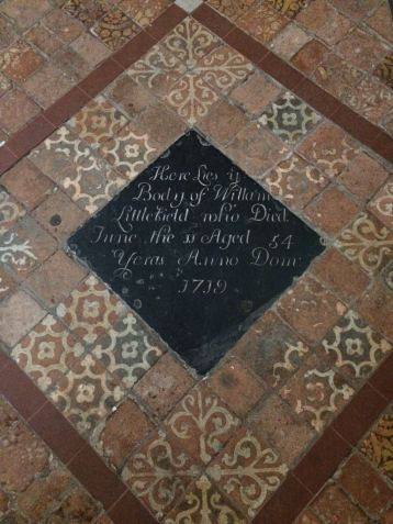 Example of tiles in situ in other churches